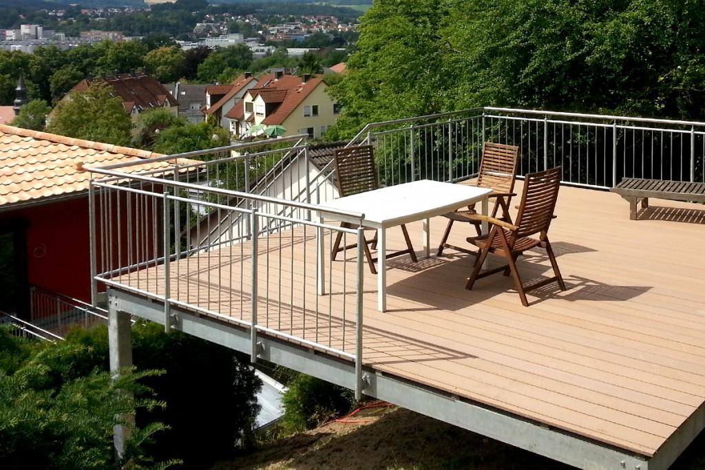 hangterrasse singer metallbau kulmbach bayreuth oberfranken. Black Bedroom Furniture Sets. Home Design Ideas